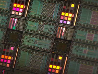 Photograph of D-Wave's processors