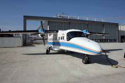 Photo of the aircraft used to transmit quantum information