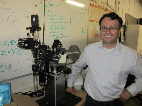 Thomas Jennewein and his quantum receiver, which will soon hit the streets of Waterloo