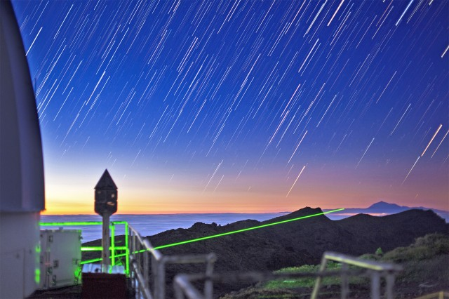 Quantum teleportation, in the Canary Islands, and some pretty star trails